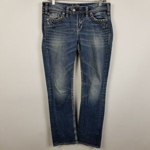 Silver Tuesday Mid Rise Baby Boot Cut Jeans 29x31